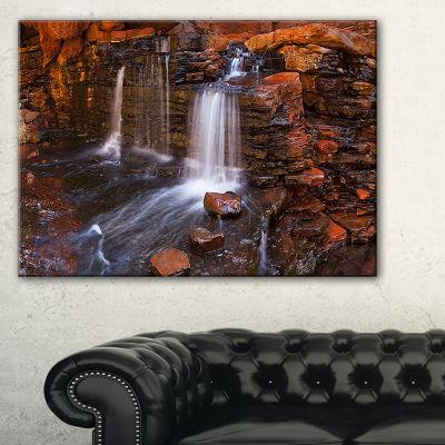Designart Waterfall In Hancock Gorge Canvas Art