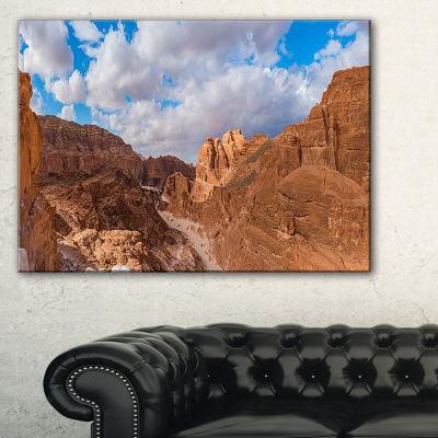 Designart White Canyon At South Sinai Egypt Canvas Art