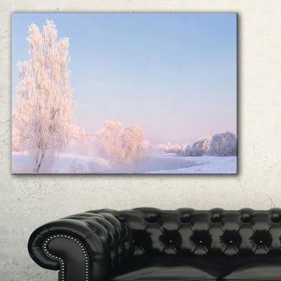 Designart White Crystal Tree And Landscape Canvas Art