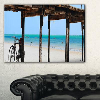 Designart White Sand Beach In Zanzibar Island Canvas Art