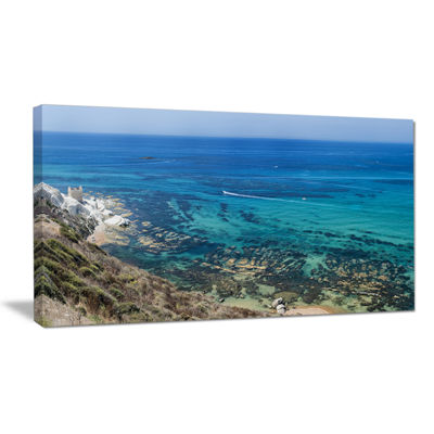 Designart White Tip Agrigento In Sicily Italy Canvas Art