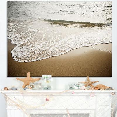 Designart White Waves In Mediterranean Sea Canvas Art