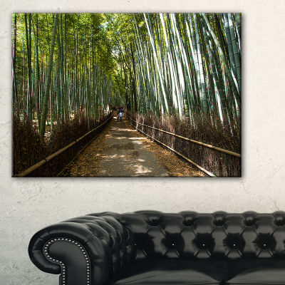 Designart Wide Pathway In Bamboo Forest Canvas Art