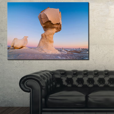 Designart Wind Eroded Rock Formation Canvas Art
