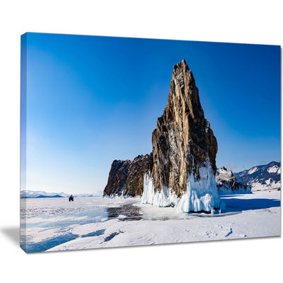 Designart Winter Lake Baikal Panorama Canvas Art