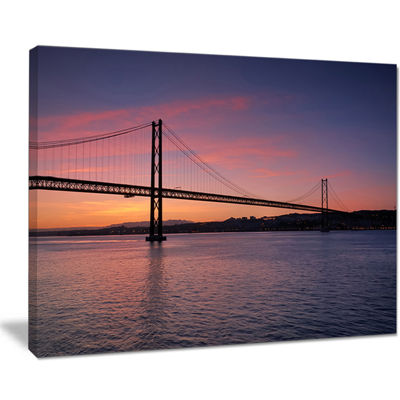 Designart Wonderful View Of Lisbon Bridge Canvas Art