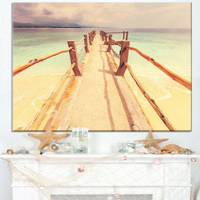 Designart Large Wooden Pier At Gili Island Canvas Art