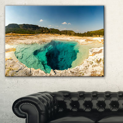 Designart Yellow Stone Pool Panorama Canvas Art