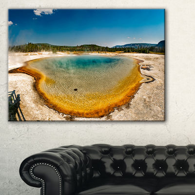 Designart Yellowstone Heat Pool Panorama Canvas Art