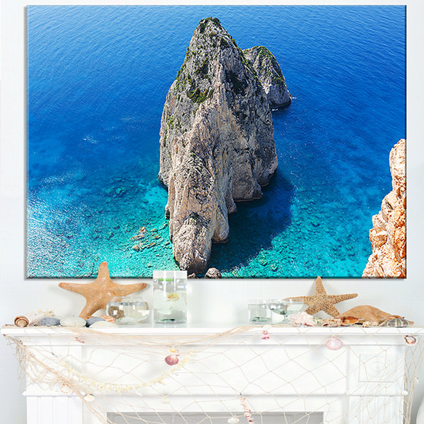 Designart Zakynthos Beautiful Rocky Coast Canvas Art