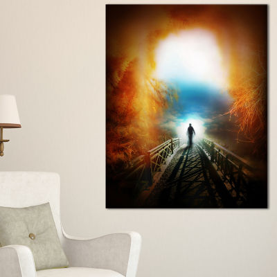 Designart Life After Death Large Tunnel Canvas Art