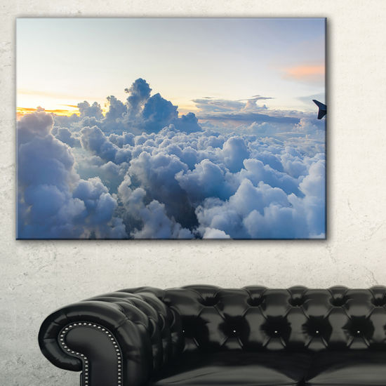 Designart Light Blue Heavy Clouds In Sky Canvas Art