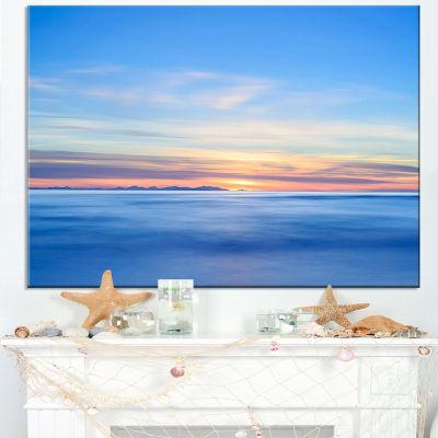 Designart Corsica Island Sunset View Italy Canvas Art