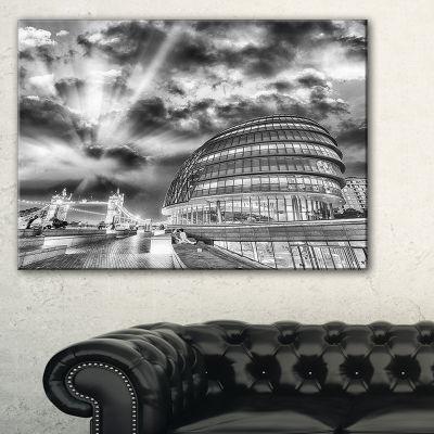 Designart London Night Cityscape Around Southwark Canvas Art