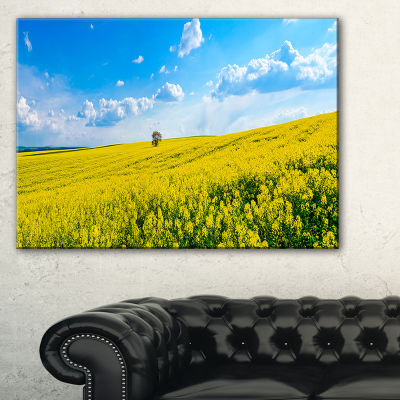 Designart Lone Tree In Blooming Cozla Park Canvas Art