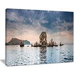 Designart Crimean Peninsula Seashore Panorama Canvas Art