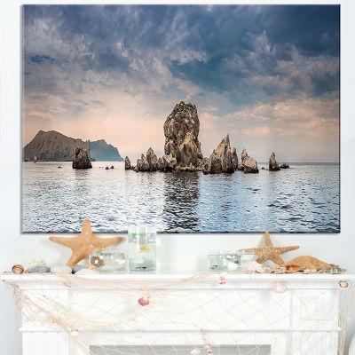 Designart Crimean Peninsula Seashore Panorama Canvas Art