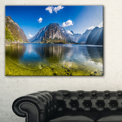 Designart Crystal Clear Mountain Lake In Alps Canvas Art