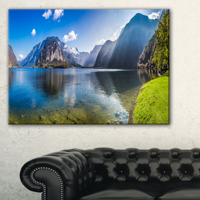 Designart Crystal Clear Waters Of Alps Lake Canvas Art