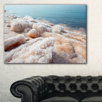 Designart Crystallized Salt On Dead Sea Beach Canvas Art