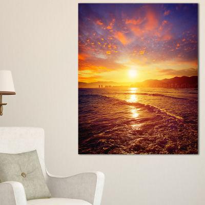 Designart Cullera Playa Los Olivos Beach Canvas Art