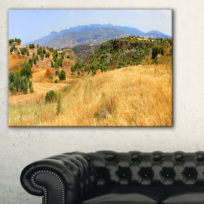Designart Cyprus Landscape Panoramic View Canvas Art
