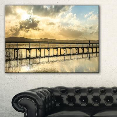 Designart Long Jetty Foreshore Reserve Panorama Canvas Art