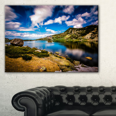 Designart Long View Of Seven Rila Lakes Canvas Art