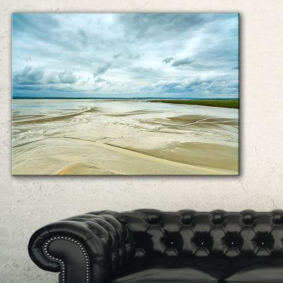 Designart Low Tide In Mont Saint Normandy Canvas Art