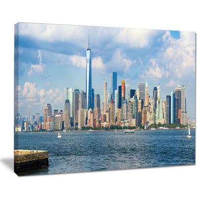 Designart Lower Manhattan Skyline Panorama Canvas Art