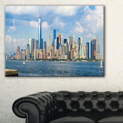 Designart Lower Manhattan Skyline Panorama Canvas Art