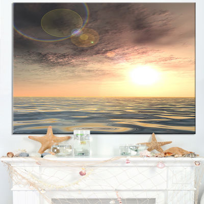 Designart Dark Sky With Clouds At Sunset Canvas Art