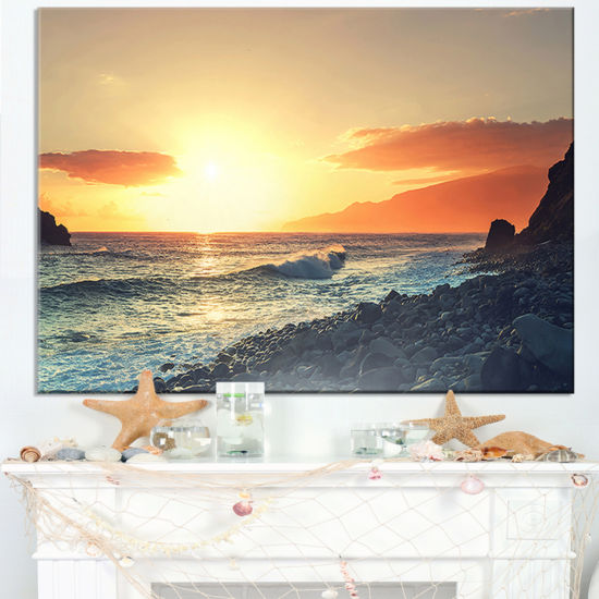 Designart Madeira Coast With Blue Waters Canvas Art