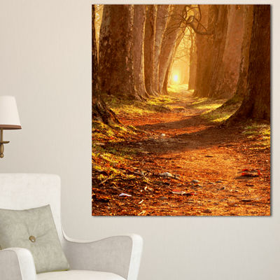 Designart Magic Morning At The Fall Park 3-pc. Canvas Art