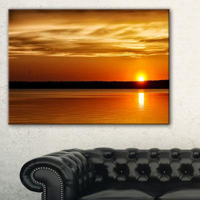 Designart Day And Night Seascape Panorama Canvas Art