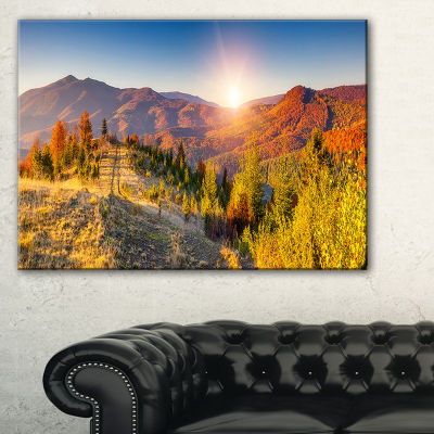 Designart Majestic Fall Mountains Range Canvas Art