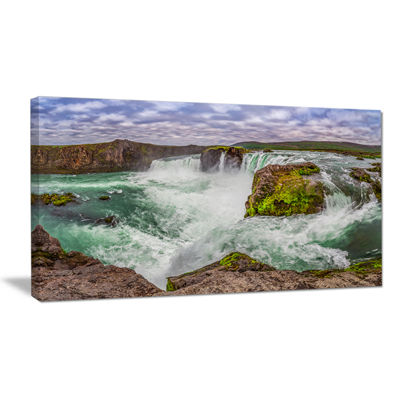 Designart Majestic Godafoss Waterfall Iceland Canvas Art