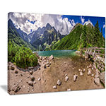 Designart Majestic Lake In Tatra Mountains Canvas Art