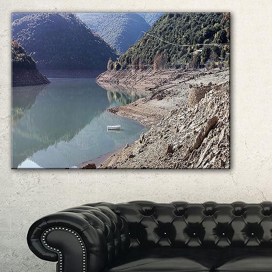 Designart Majestic Mountain Lake Panorama Canvas Art