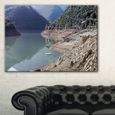 Designart Majestic Mountain Lake Panorama Canvas Art