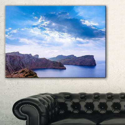 Designart Majorca Formentor Cape Rocks Canvas Art