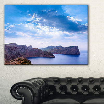 Designart Majorca Formentor Cape Rocks Canvas Art