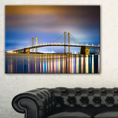Designart Delaware Memorial Bridge Panorama Canvas Art