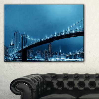 Designart Manhattan Downtown Urban View Canvas Art