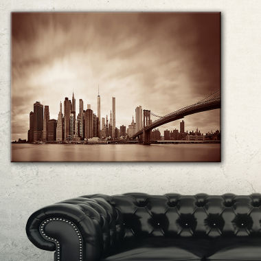 Designart Manhattan Financial District Canvas Art