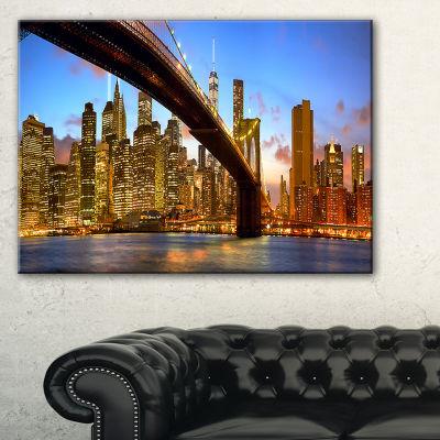 Designart Manhattan Panorama With Skyscrapers Canvas Art