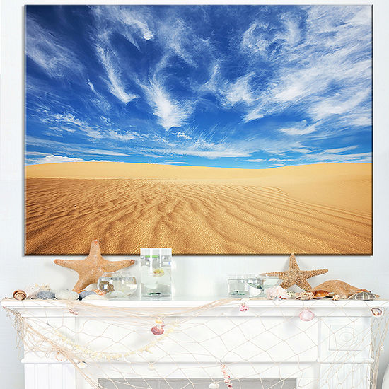 Designart Desert With Exotic Blue Sky Over Canvas Art