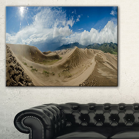 Designart Massive Sand Dunes Panorama Canvas Art