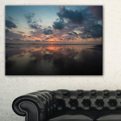 Designart Matapalo In Costa Rica Beach Sunset Canvas Art