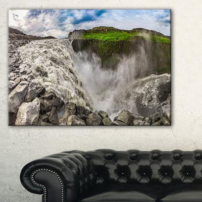 Designart Dettifoss Waterfall Iceland Panorama Canvas Art